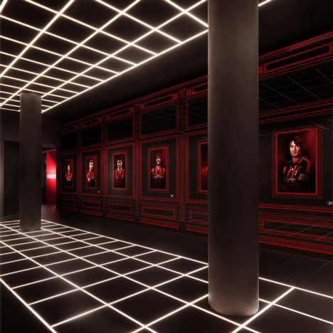 Fabio Novembre uses club colours for AC Milan headquarters interior