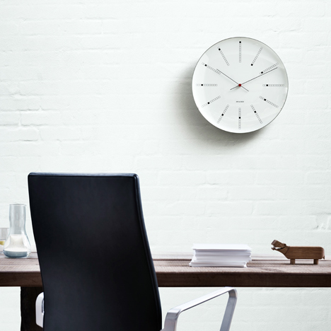 Bankers wall clock by Arne Jacobsen