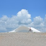 Shell-shaped shelter by Flanagan Lawrence built on Littlehampton seafront