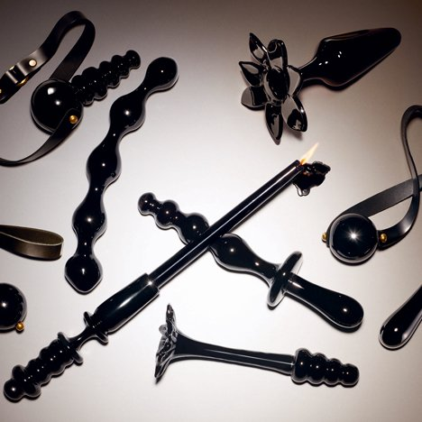 Blown-glass sex toys form Adult Tool Kit by Michael Reynolds and Jeff Zimmerman