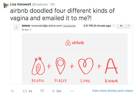 Airbnb logo reactions