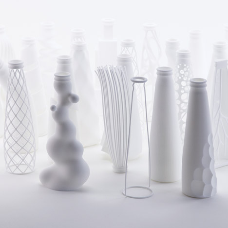Andrea Morgante abstracts Peroni beer bottle into 3D-printed shapes