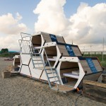 B-and-Bee camping concept proposes stackable sleeping cells for festivals