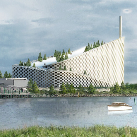 BIG's combined power plant and ski slope is ""