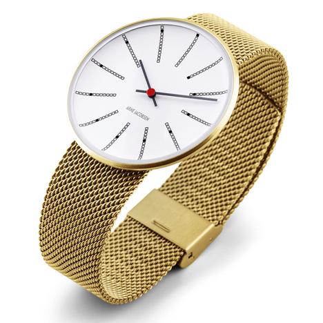 Bankers watch based on an Arne Jacobsen clock arrives at Dezeen Watch Store