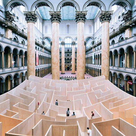 "Bjarke Ingels' ""BIG Maze"" opens at<br /> Washington's National Building Museum"
