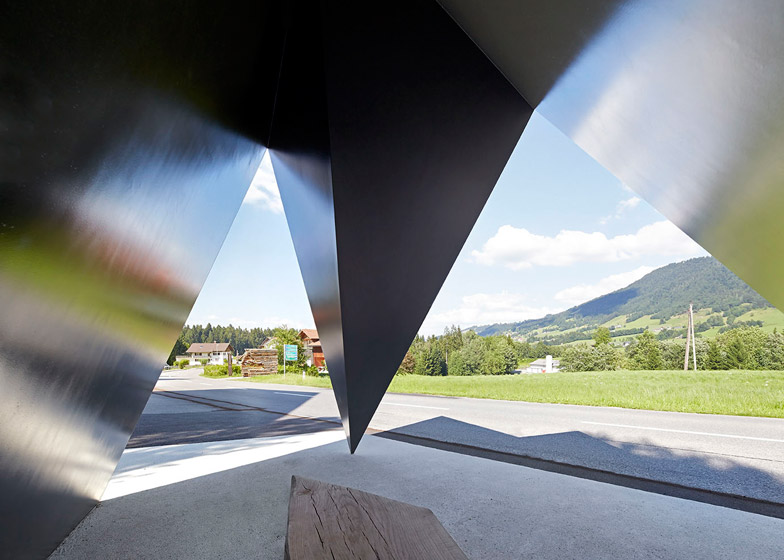 Architect-designed bus stops in Austria photographed by Hufton + Crow