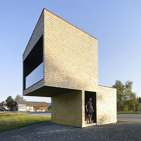 Architect-designed bus stops in Austria<br /> photographed by Hufton + Crow