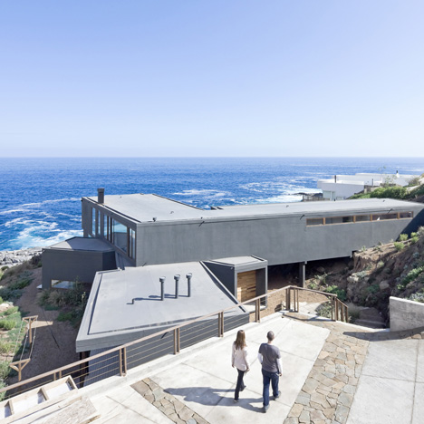 "Chilean seaside house by LAND Arquitectos designed to ""catch the views"""