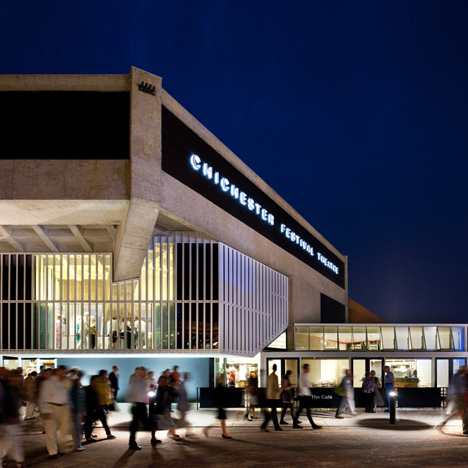 Haworth Tompkins overhauls Powell & Moya's brutalist Chichester theatre