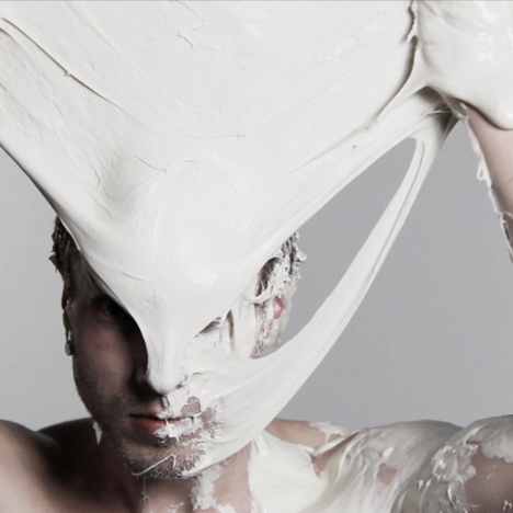 Shai Langen covers bodies in liquid latex fabrics and fermented dough