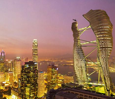Hong Kong Arcology SkyScraper, Hong Kong, China, by Studio Cachoua Torres Camilletti