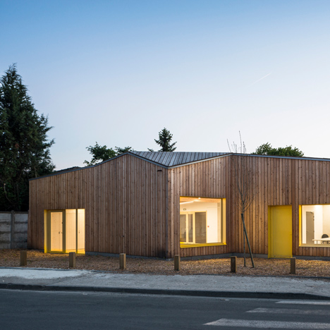 Faceted timber community centre completed by Gayet-Roger Arc