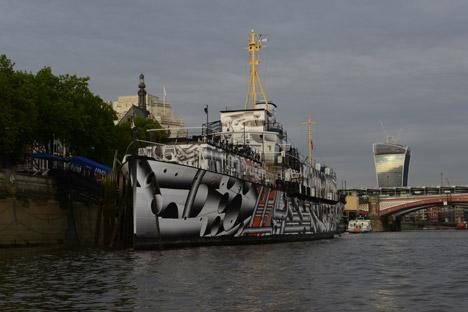 Dazzle Ship by Tobias Rehberger