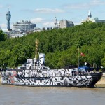"Tobias Rehberger covers HMS President in ""dazzle camouflage"""