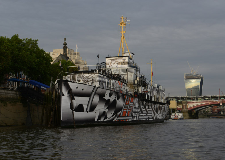 Dazzle Ship by Tobias Rehberger