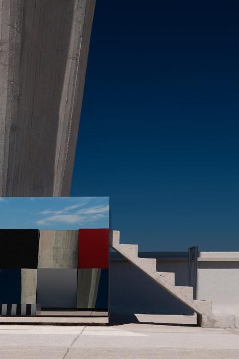 Defini, Fini, Infini by Daniel Buren on Le Corbusier's Cité Radieuse rooftop
