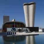 Daniel Buren installs mirrors and coloured glass on Le Corbusier's Cité Radieuse rooftop