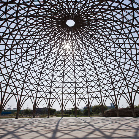 Diamond Island Community Hall by Vo Trong Nghia bamboo_dezeen_sq1