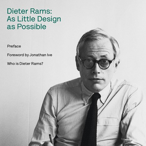 Dieter Rams: As Little Design as Possible book cover