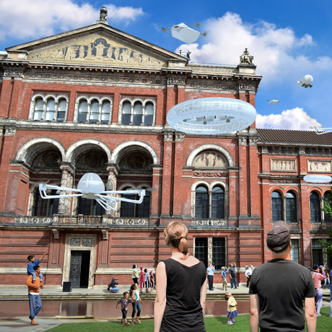 Drone Aviary installation proposed for V&A museum London