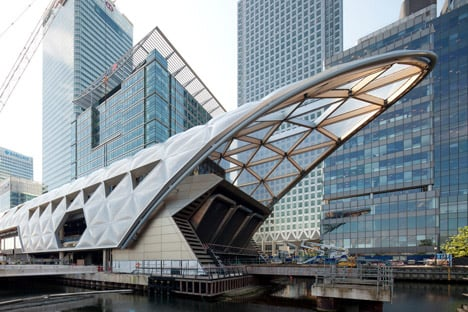 Fosters + Partners' Canary Wharf Crossrail station