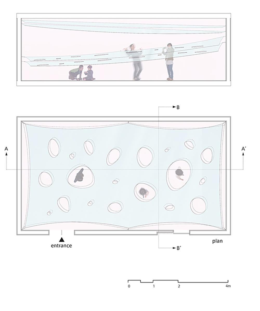 Kotaro Horiuchi creates human Whac-A-Mole with membrane installation