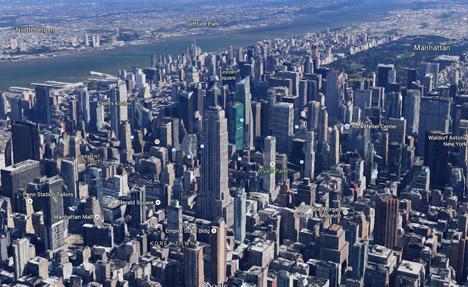 Map Of New York 3d.Google Adds London To Its Growing List Of 3d Mapped Cities