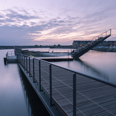 Floating structure by White Arkitekter brings harbour swimming to a Danish island