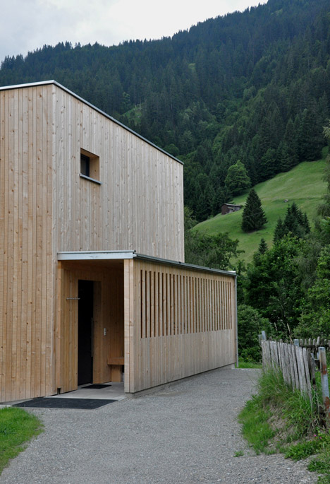 Timber-clad Haus M by Exit Architects is a skiing and hiking retreat in Austria