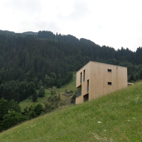 Wooden Haus M by Exit Architects is a skiing and hiking retreat in Austria