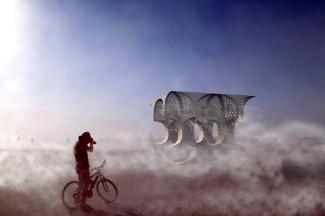 Hayam temple by Josh Haywood for Burning Man Festival