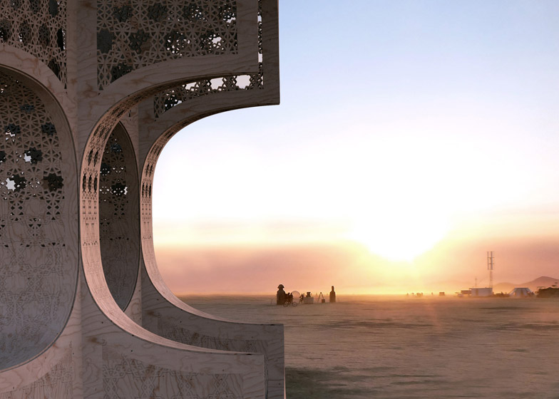 Hayam temple by Josh Haywood for Burning Man Festival