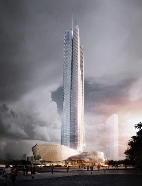 Hengqin Financial Center Zuhai, China, by Aedas