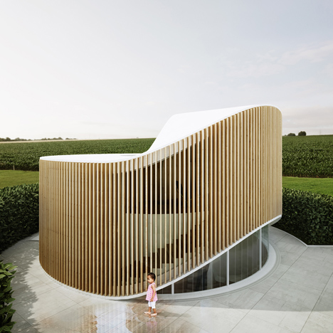 Penda's doughnut-shaped House O is based on the form of a tree stump