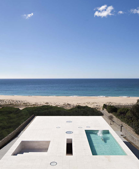 "House of the Infinite by Alberto Campo Baeza designed as ""a jetty facing out to sea"""