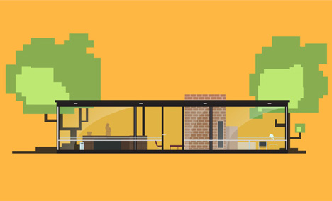 Iconic Houses animation by Matteo Muci