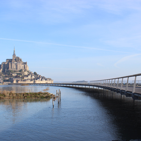Mont Saint-Michel bridge by Dietmar Feichtinger opens to pedestrians in Normandy