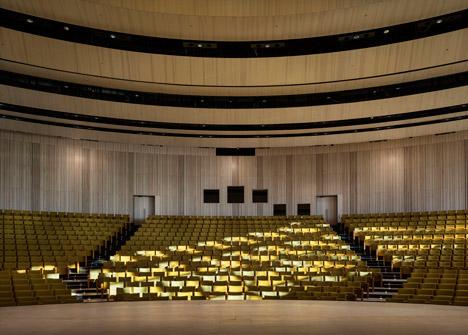 Karolinska Institutet auditorium by Wingardhs
