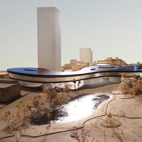 Peter Zumthor reworks LACMA proposal<br /> to bridge one of LA's busiest roads