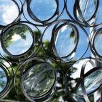 Kine Solberg's window panels made with lenses create distorted views