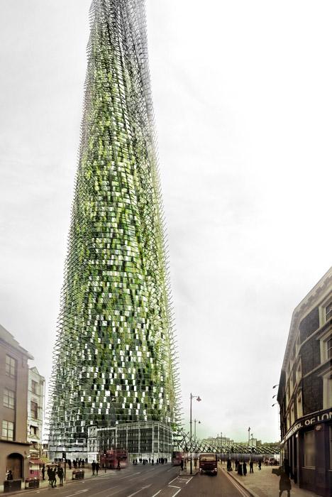 London Organic Skycraper by Agence Chartier Corbasson
