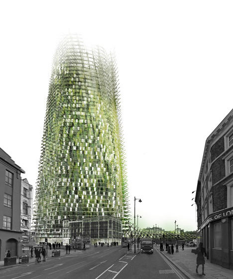 Chartier-Corbasson Architectes\' Organic Skyscraper made from rubbish