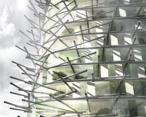 Chartier-Corbasson Architectes\' Organic Skyscraper made from rubbish