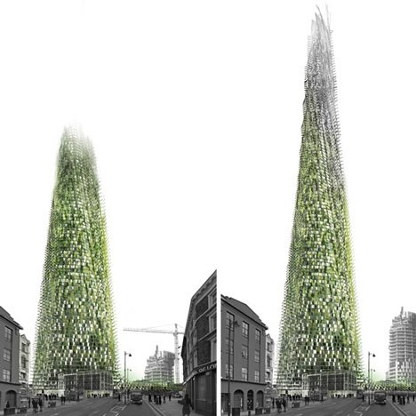 Organic Skyscraper by Chartier-Corbasson would be built from office rubbish