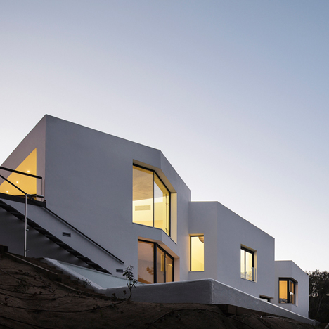 Mirag's House in Llavaneres comprises four overlapping white blocks