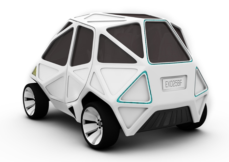 Exo Electric City Car by Mark Beccaloni and Mauro Fragiotta