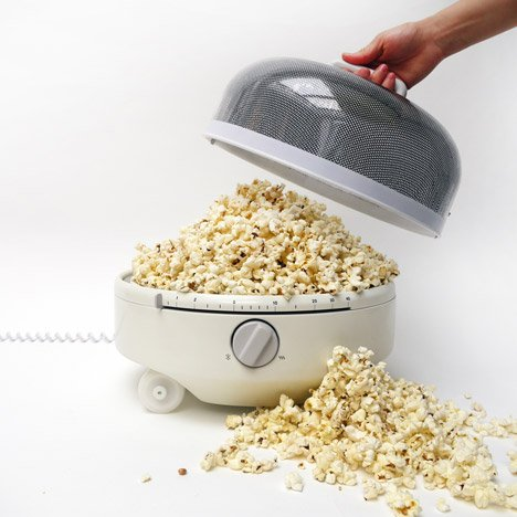 Mediumwave by Jake Rich is a pod-shaped microwave on wheels
