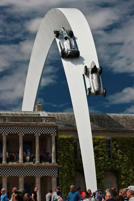 Mercedes-Benz Sculpture by Gerry Judah for Goodwood Festival of Speed 2014