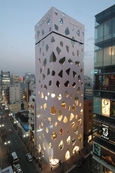 MikimMikimoto building in Ginza, Tokyo by  Toyo Ito & Associates and Taisei Design Paeoto building in Ginza by  Toyo Ito and Taisei Design Pae